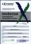 Certifikát Extherm
